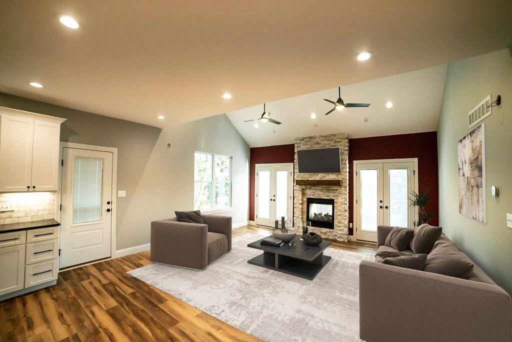 Living Room St Louis Home Builder Custom Construction